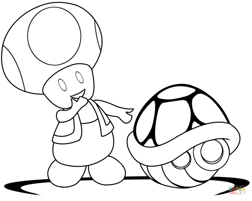 Toad coloring, Download Toad coloring for free 2019