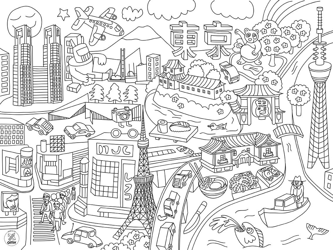 Черно-белые картинки для распечатки города