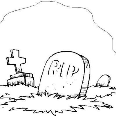 Tombstone coloring #6, Download drawings