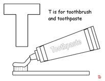 Toothbrush coloring #11, Download drawings