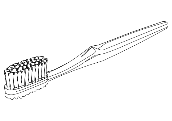 Toothbrush coloring #16, Download drawings