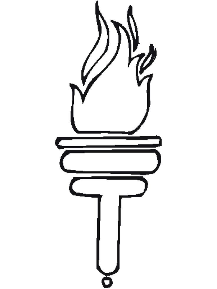 Torch coloring #8, Download drawings