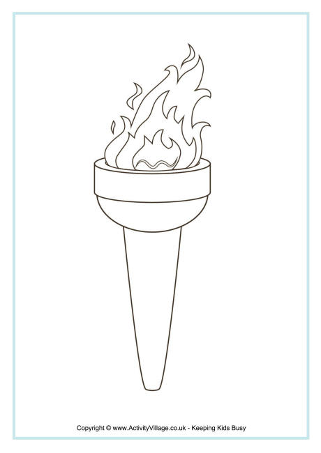 Torch coloring #18, Download drawings