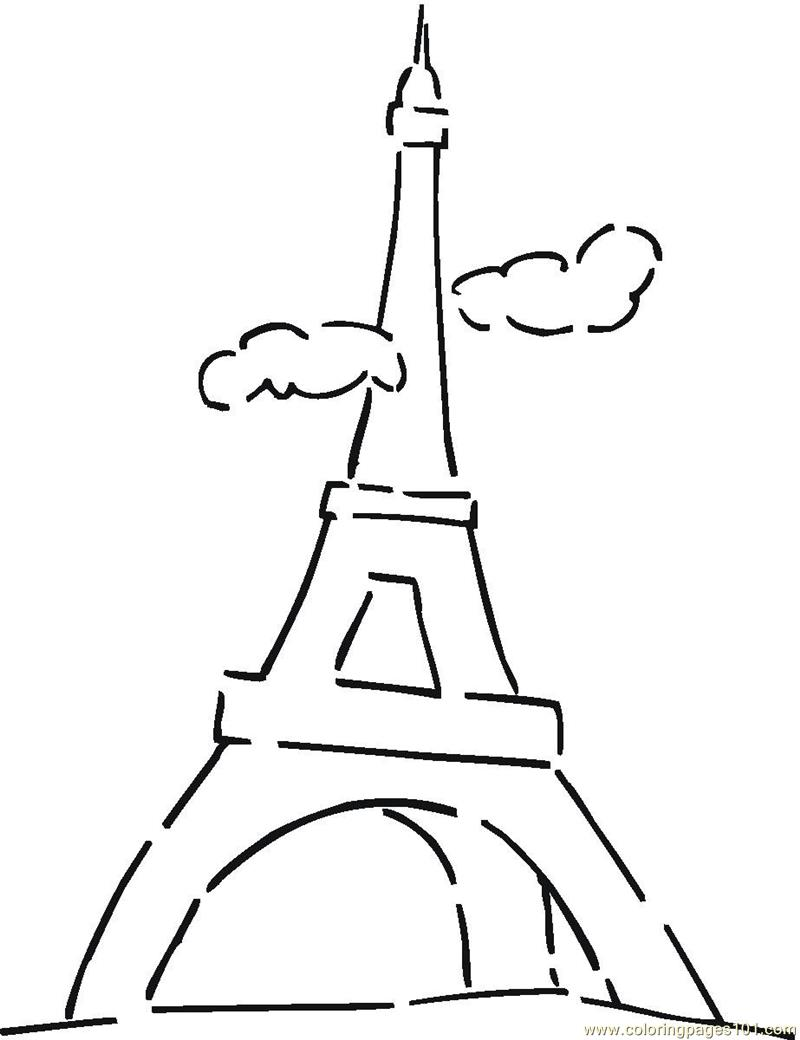 Tower coloring #11, Download drawings