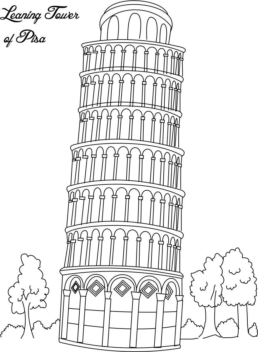 Tower coloring #8, Download drawings