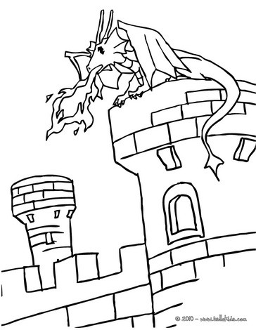 Tower coloring #5, Download drawings