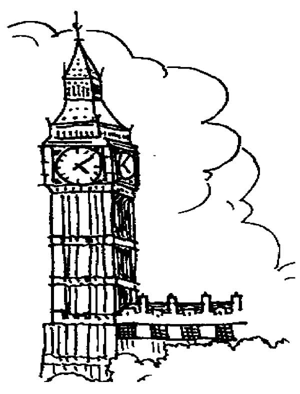 Tower coloring #3, Download drawings