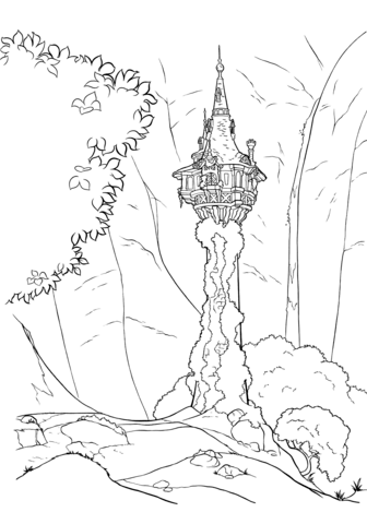 Tower coloring #1, Download drawings