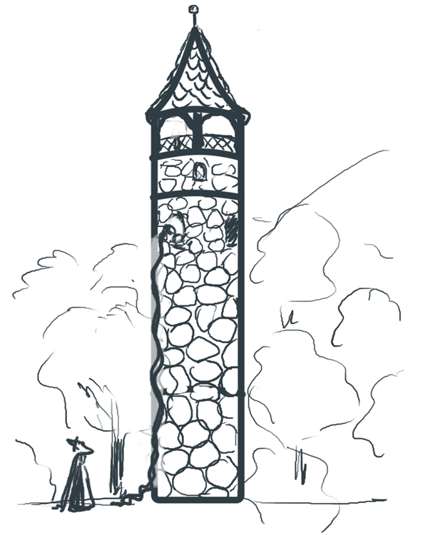 Tower coloring #19, Download drawings