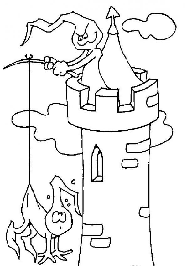 Tower coloring #9, Download drawings