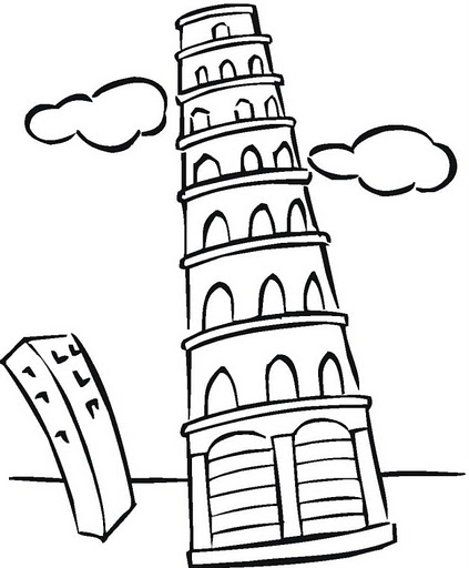 Tower coloring #18, Download drawings