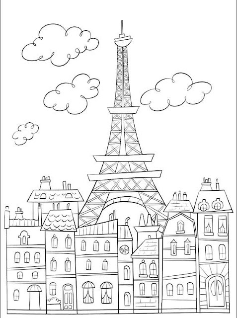 Tower coloring #7, Download drawings