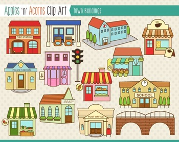 Town clipart #1, Download drawings