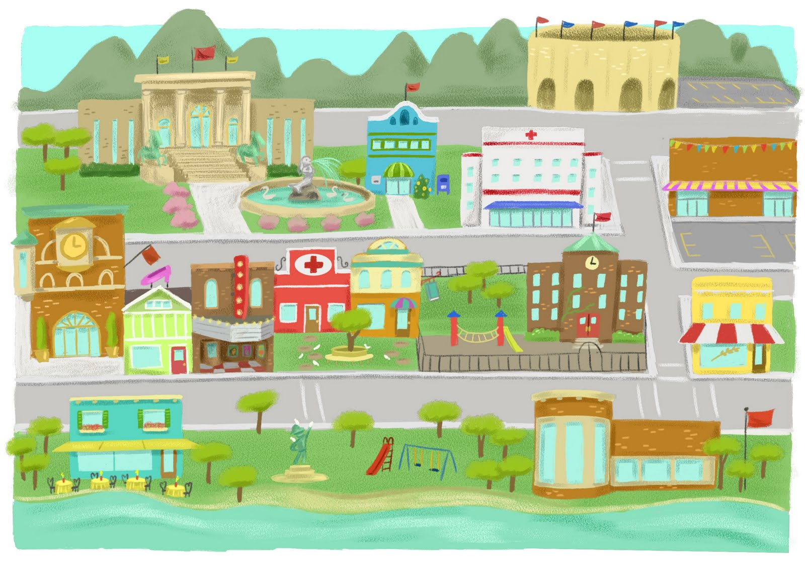 Town clipart #11, Download drawings