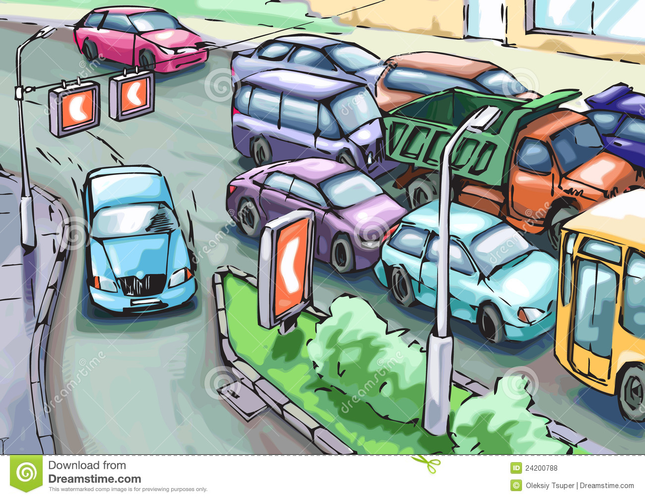 Traffic clipart #2, Download drawings