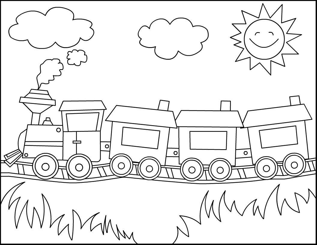 Train coloring #18, Download drawings
