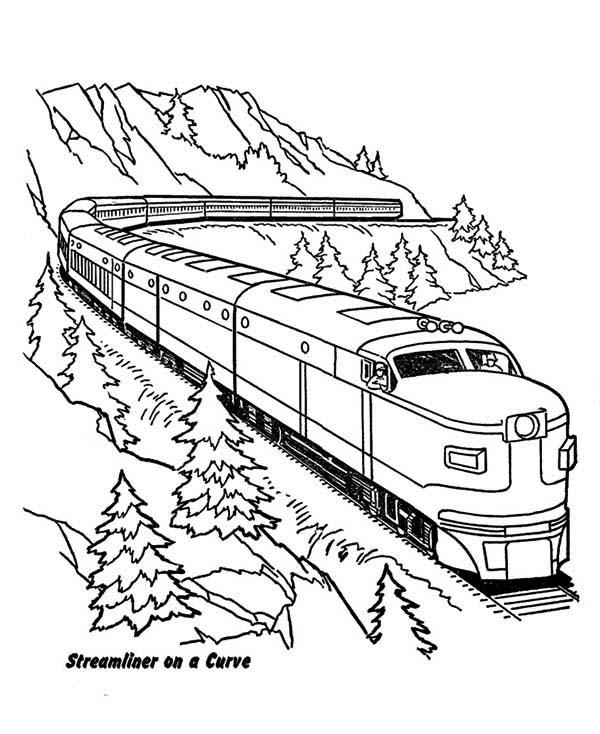 Train coloring #9, Download drawings