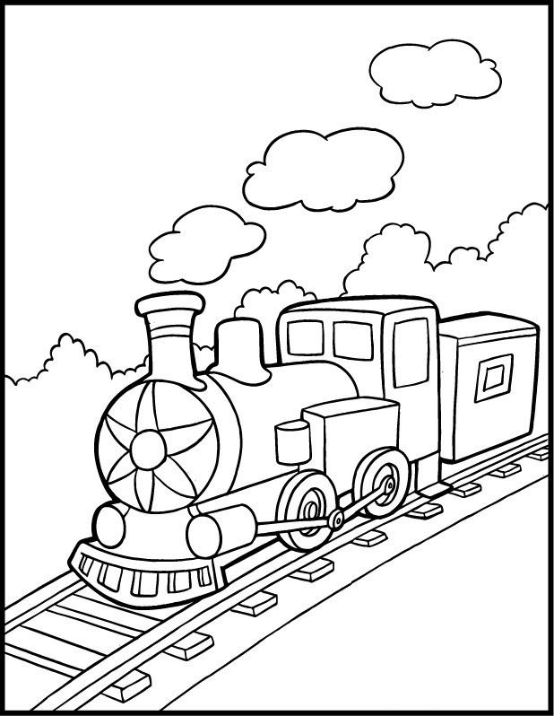 Train coloring #4, Download drawings