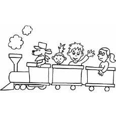 Train coloring #6, Download drawings