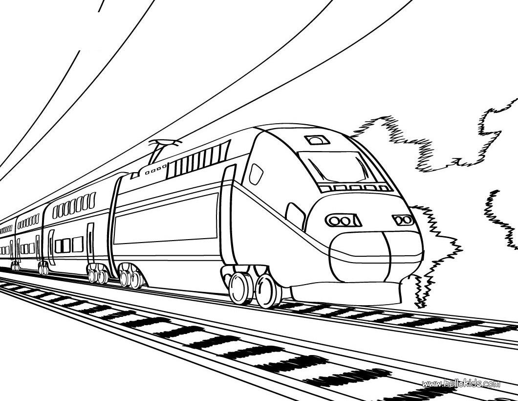 Train coloring #17, Download drawings