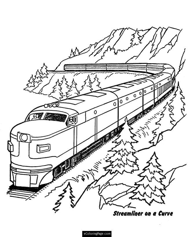 Train coloring #3, Download drawings