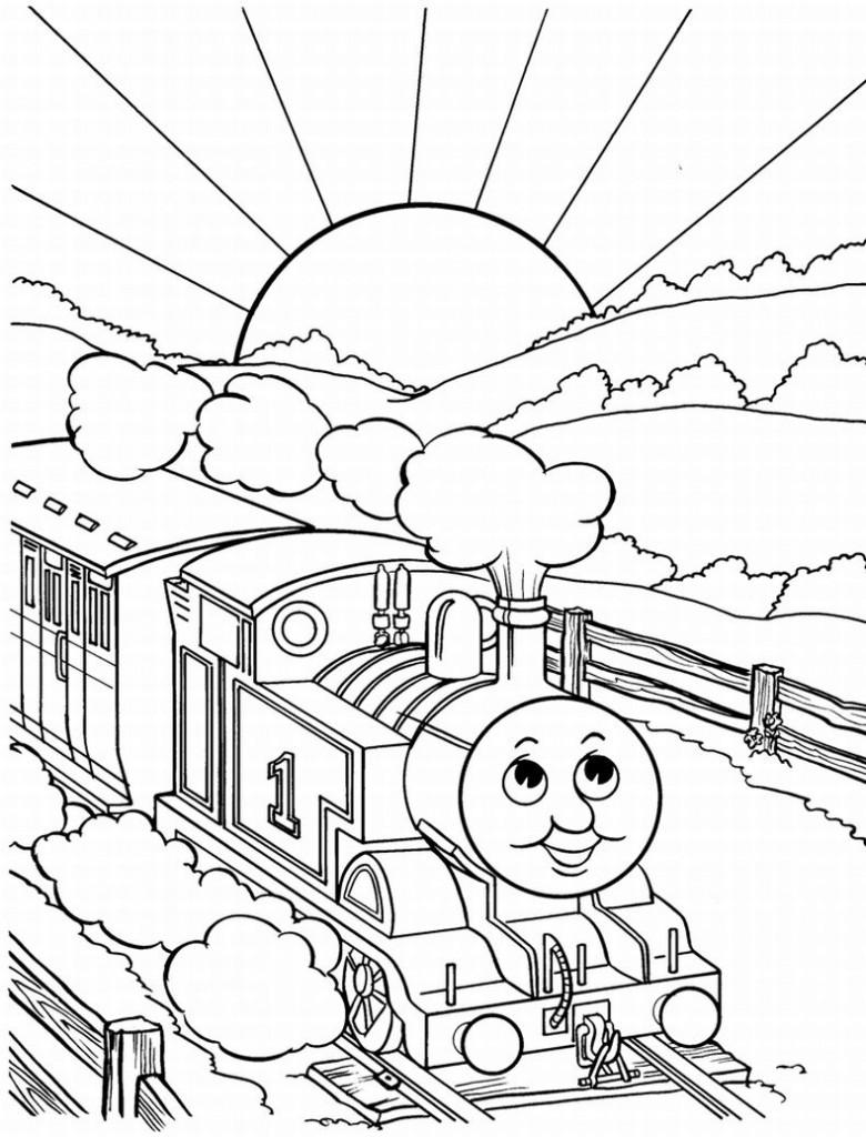 Train coloring #13, Download drawings