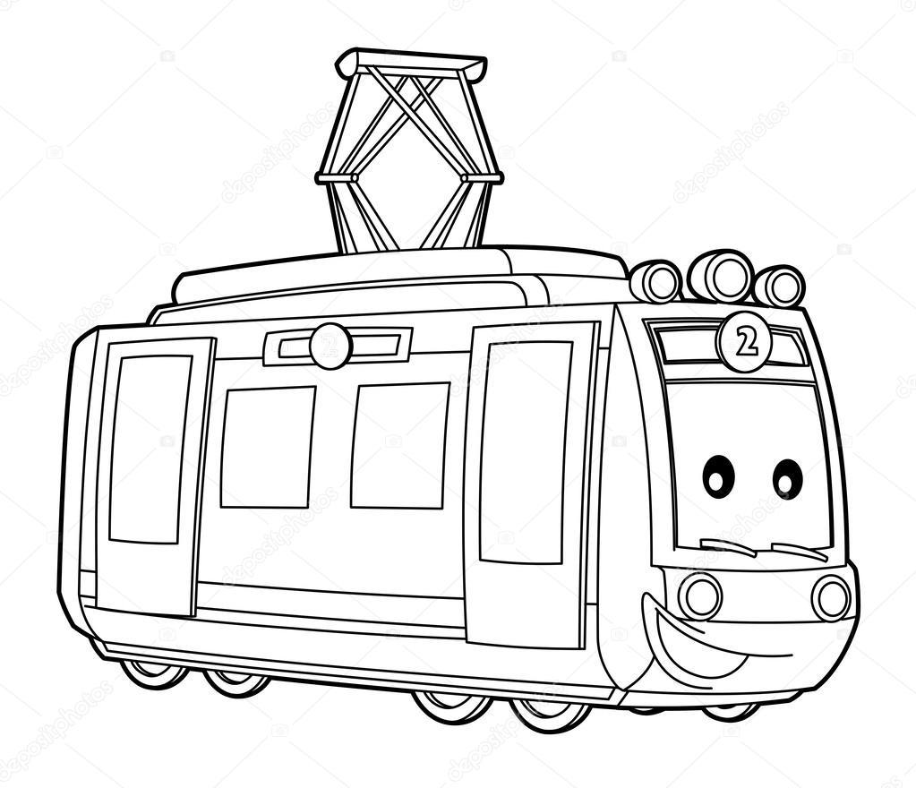 Tram coloring #12, Download drawings