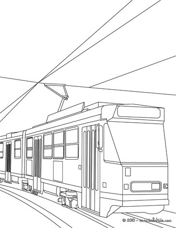Tram coloring #4, Download drawings