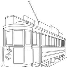 Tram coloring #6, Download drawings