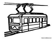 Tram coloring #10, Download drawings