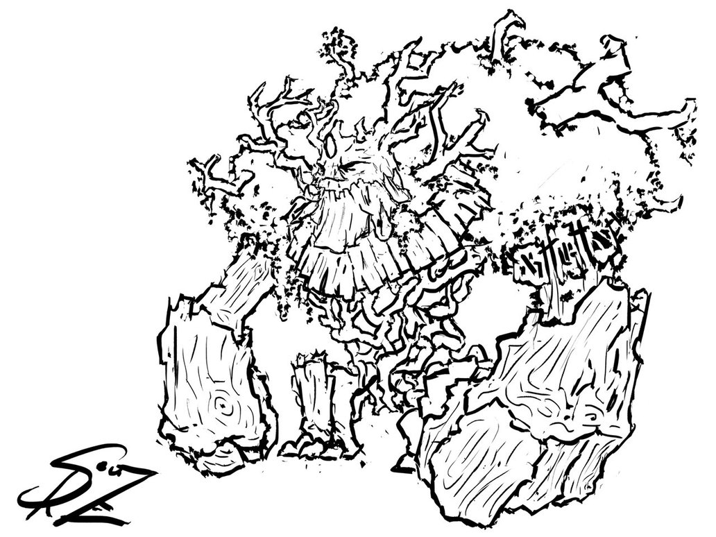 Treant coloring #17, Download drawings