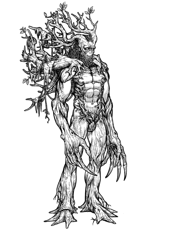 Treant coloring #16, Download drawings
