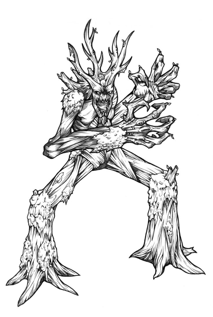 Treant coloring #10, Download drawings