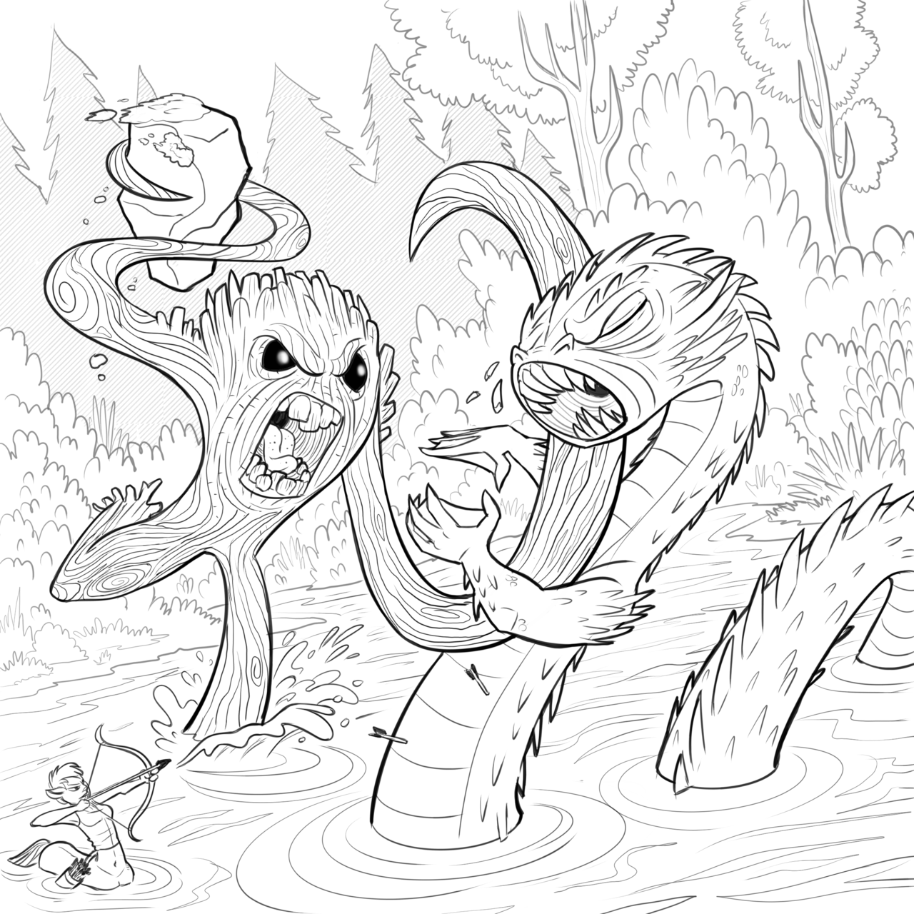 Treant coloring #12, Download drawings