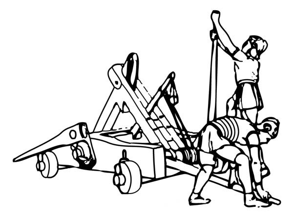 Trebuchet coloring #20, Download drawings