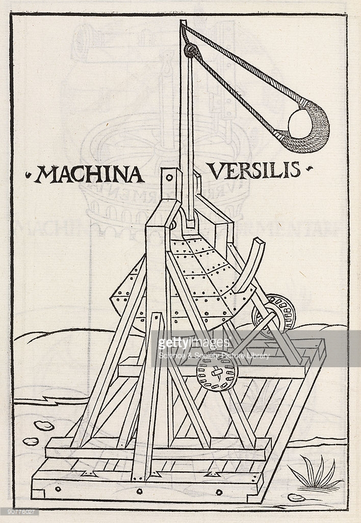 Trebuchet coloring #1, Download drawings