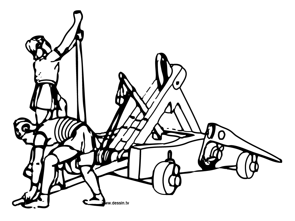 Trebuchet coloring #7, Download drawings