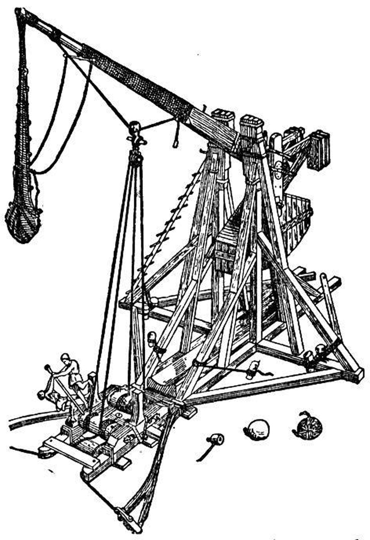 Trebuchet coloring #12, Download drawings