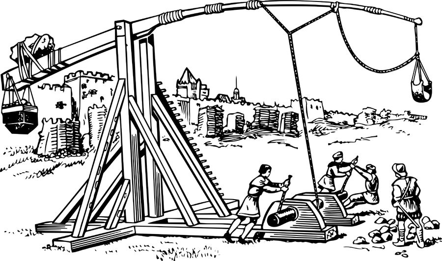 Trebuchet coloring #5, Download drawings
