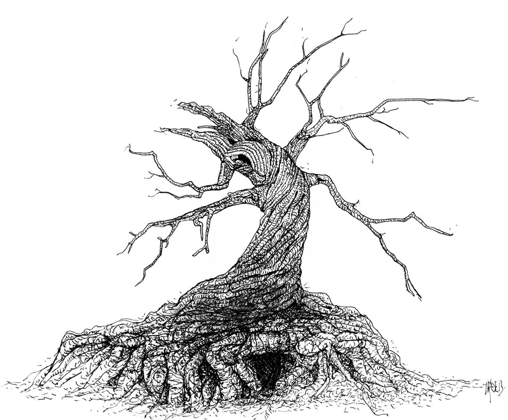 Tree Hollow coloring #7, Download drawings