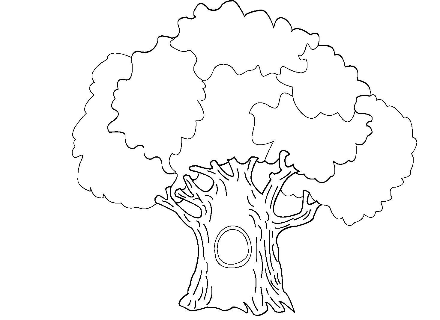 Tree Hollow coloring #12, Download drawings