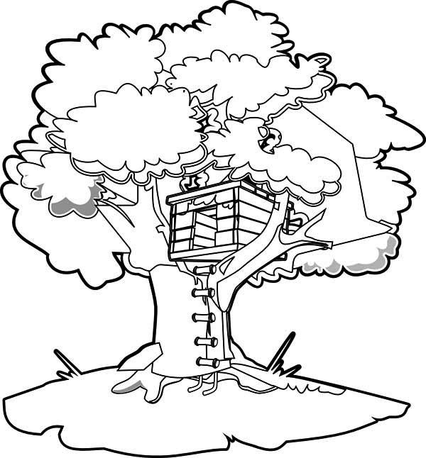 Treehouse coloring #17, Download drawings
