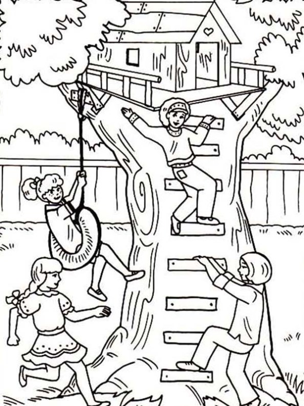 Treehouse coloring #5, Download drawings