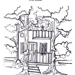 Treehouse coloring #12, Download drawings