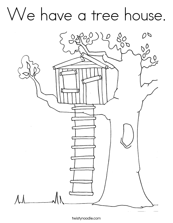 Treehouse coloring #13, Download drawings