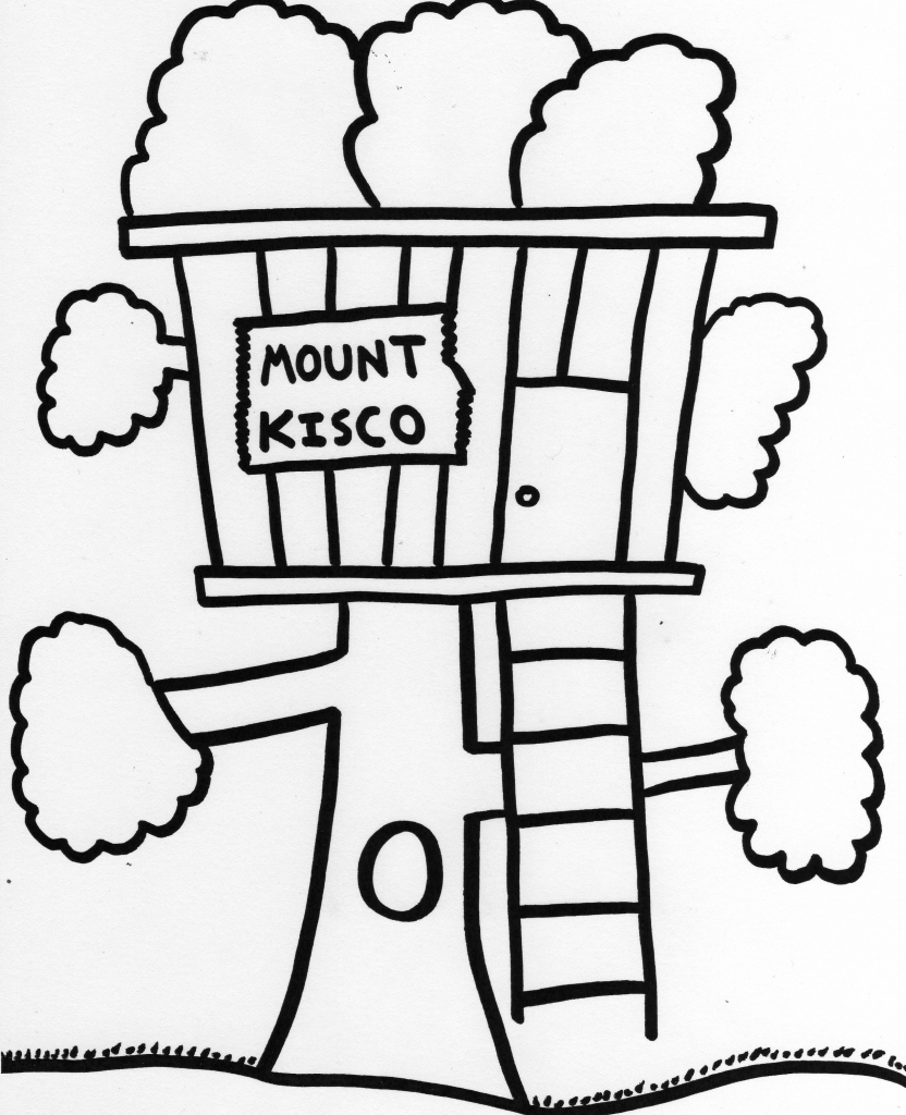 Treehouse coloring #1, Download drawings