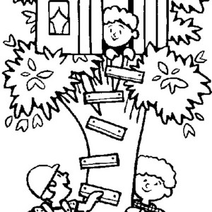 Treehouse coloring #10, Download drawings