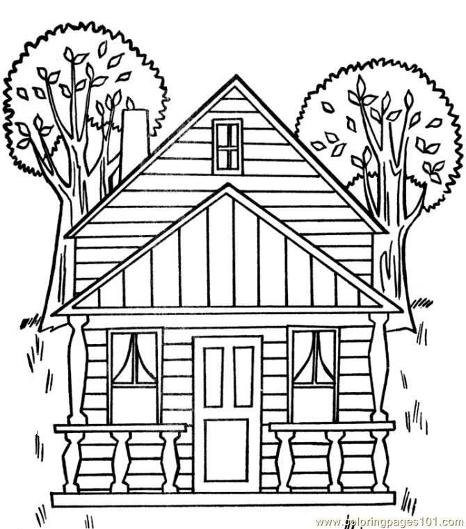Treehouse coloring #7, Download drawings