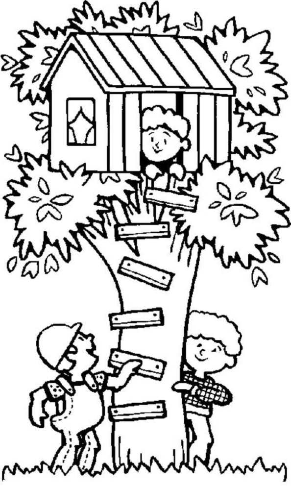 Treehouse coloring #15, Download drawings