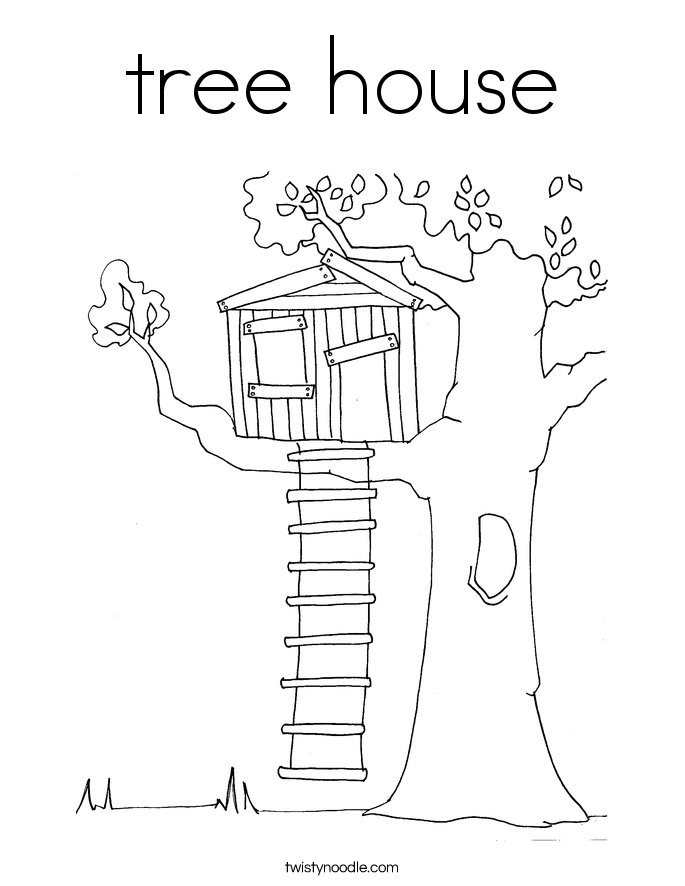 Treehouse coloring #19, Download drawings